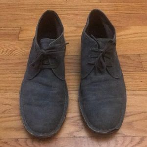 John Varvatos USA gray canvas chukka shoe